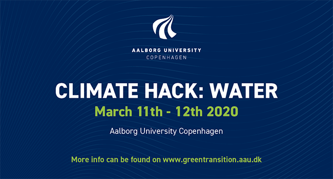 *POSTPONED* CONFERENCE: CLIMATE HACK: WATER